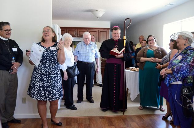 Rose Cottage Dedication - preparing to Bless the living space