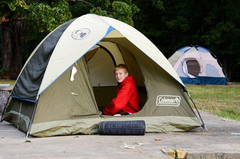 Snug in a tent