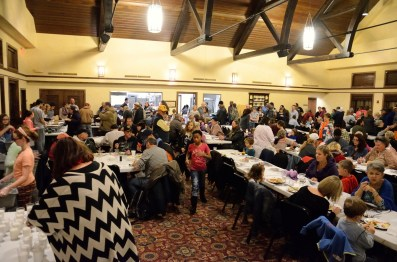 A great turn-out for the Christ Church Thanksgiving Dinner