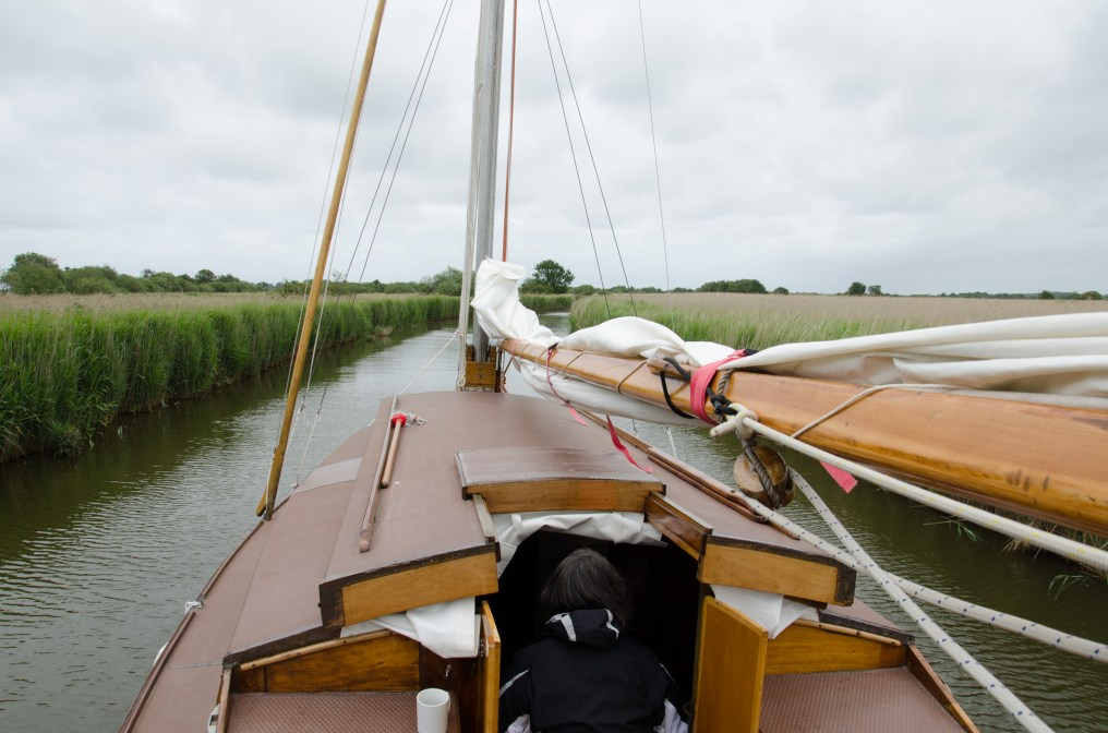 Not a lot of room - Not sailing on the Norfolk Broads
