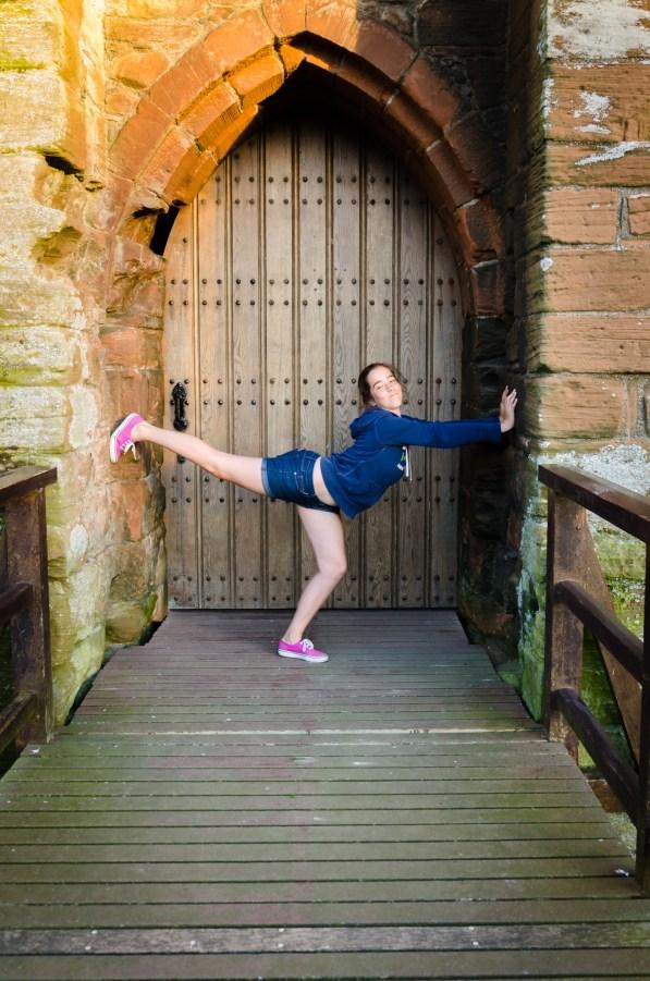 Lanie at Caerlaverock Castle