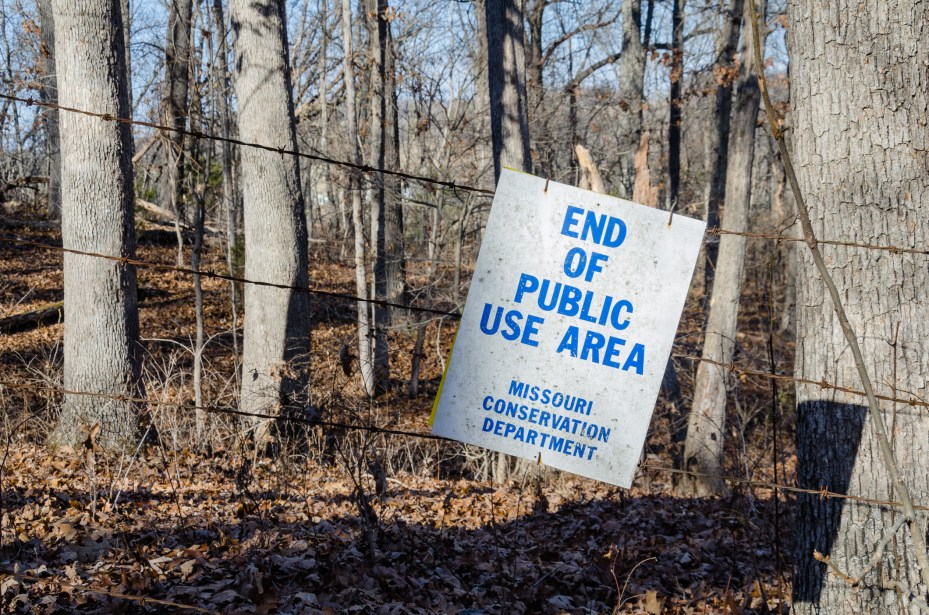 End of Public Use Area