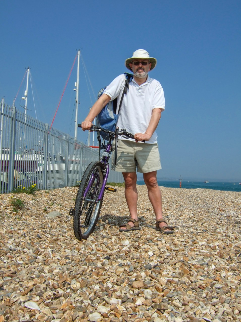 Gary + bike. Copyright © 2007 Gary Allman, all rights reserved.