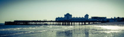 South Parade Pier - Aged and Duotone. Copyright © 2007 Gary Allman, all rights reserved.