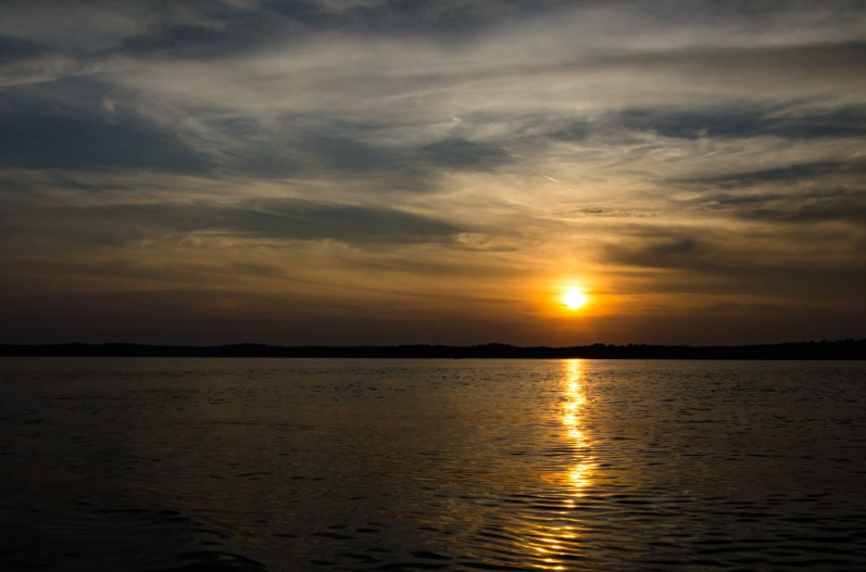 Sunset at Stockton lake