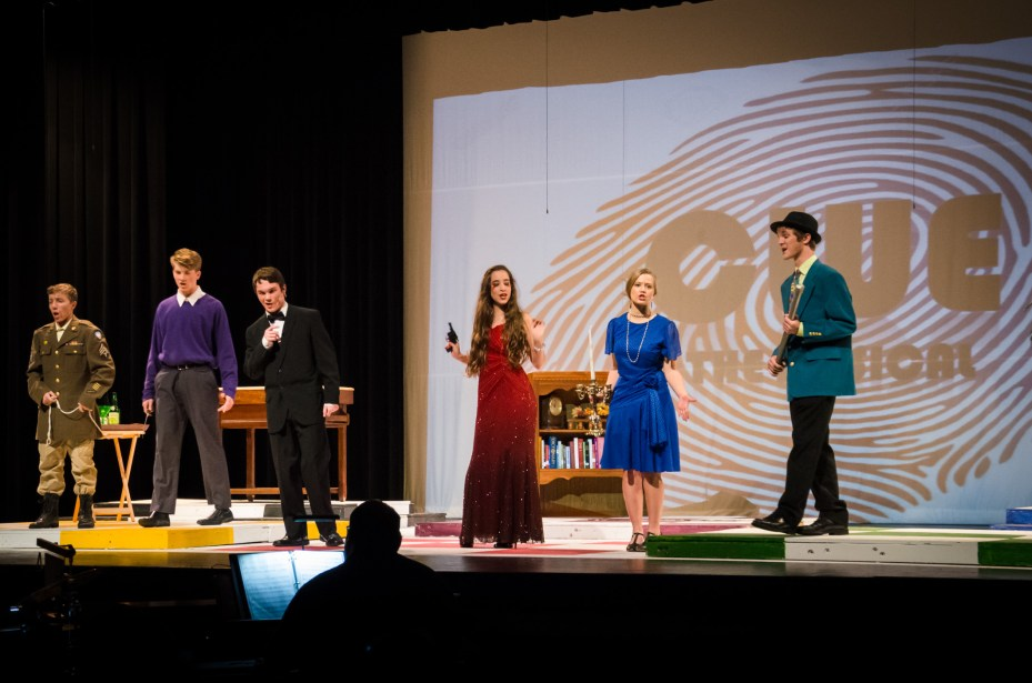 Clue: The Musical - Glendale High School. Lanie is demonstrating poor trigger discipline there. I thought I'd taught her better than that :)