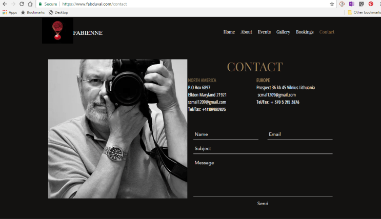Fabienne Duval scammer using Gary Allman's photographs.