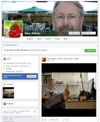 Facebook Profile for a Faux Gary Allman