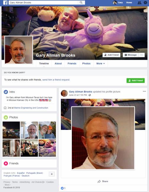 Gary Allman Brooks - Online Romance Scam