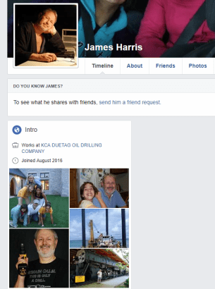 Romance Scammer FB Account James Harris - with my pictures of course.