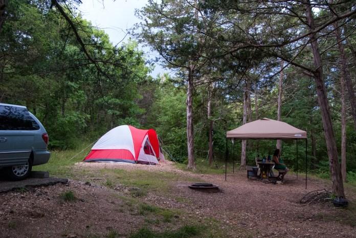 Camping at Big Bay Campground, Shell Knob, Missouri