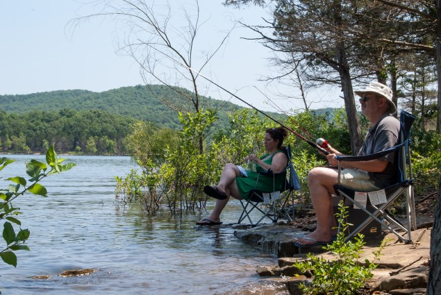 Relaxing and fishing at Table Rock Lake. Copyright © 2010 Gary Allman, all rights reserved