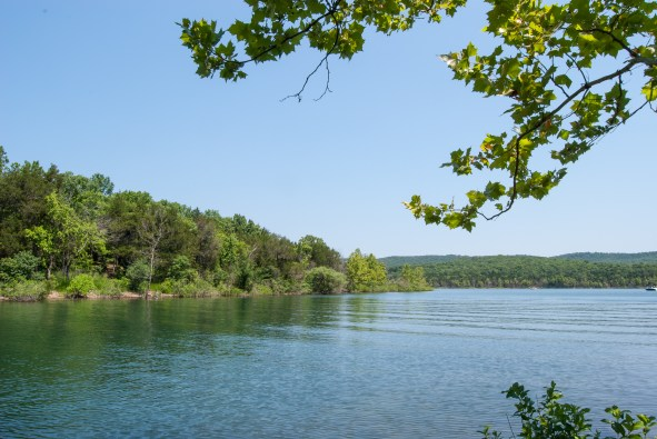 Super views across Table Rock Lake from the beach next to our campsite