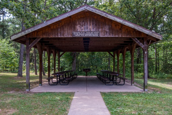 Pavilion at Berryman Trail & Campground. Copyright © 2010 Gary Allman, all rights reserved