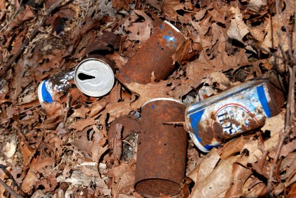 Checking the cans, we think this trash is from the seventies - which just goes to show how long trash that's left in the wilderness will remain.