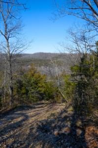 Descending the hill - Busiek Silver Trail