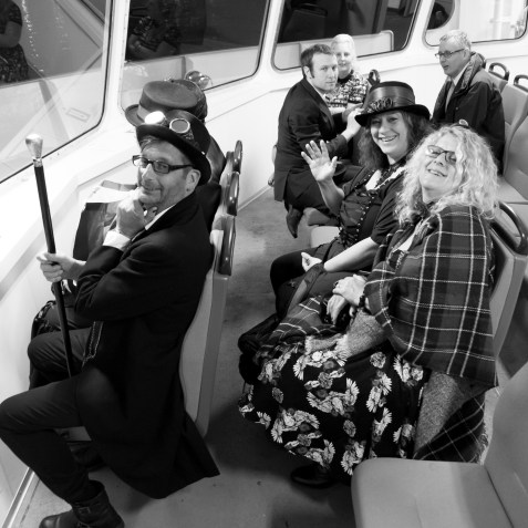 On the Gosport Ferry heading home.