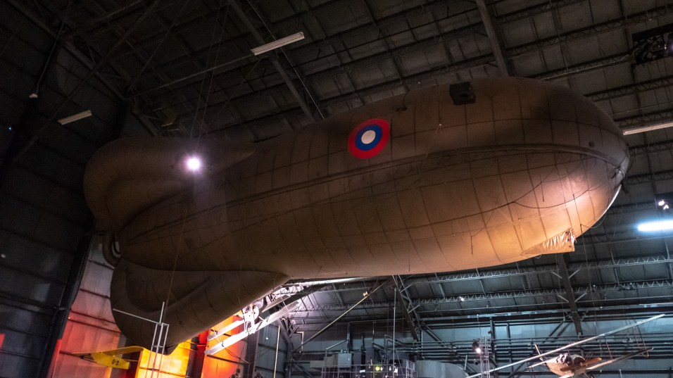 Caquot Type R Observation Balloon at the National Museum of the US Air Force.