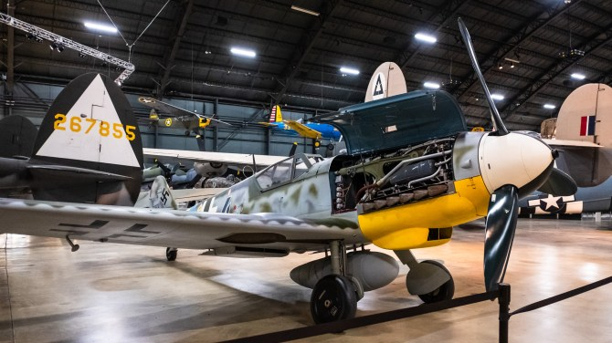 Messerschmitt Bf 109G-10 at the National Museum of the US Air Force.