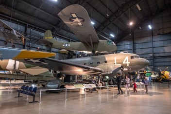 Douglas C-47D and Waco CG-4A Hadrian glider at the National Museum of the US Air Force.