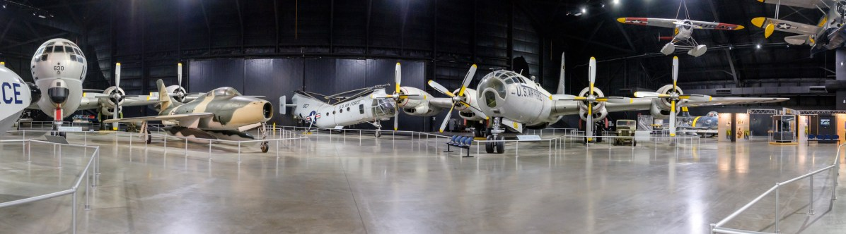 Right: Boeing WB-50D Superfortress.