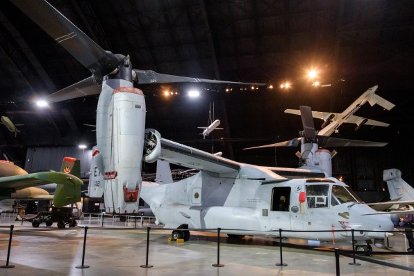 V-22 Osprey at the National Museum of the US Air Force. I accidentally managed to bag a stereo pair of this aircraft. Copyright © 2018 Gary Allman, all rights reserved.