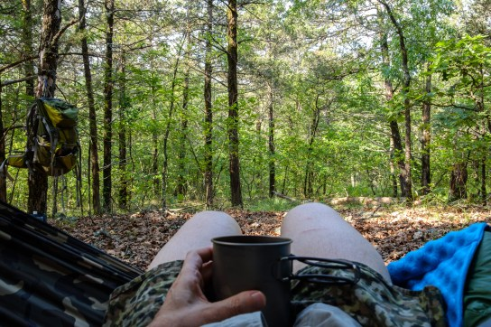 Morning Coffee in my hammock - which was a mistake as I gave up drinking coffee nine-months ago. I felt very jittery for most of the morning. Copyright © 2019 Gary Allman, all rights reserved.