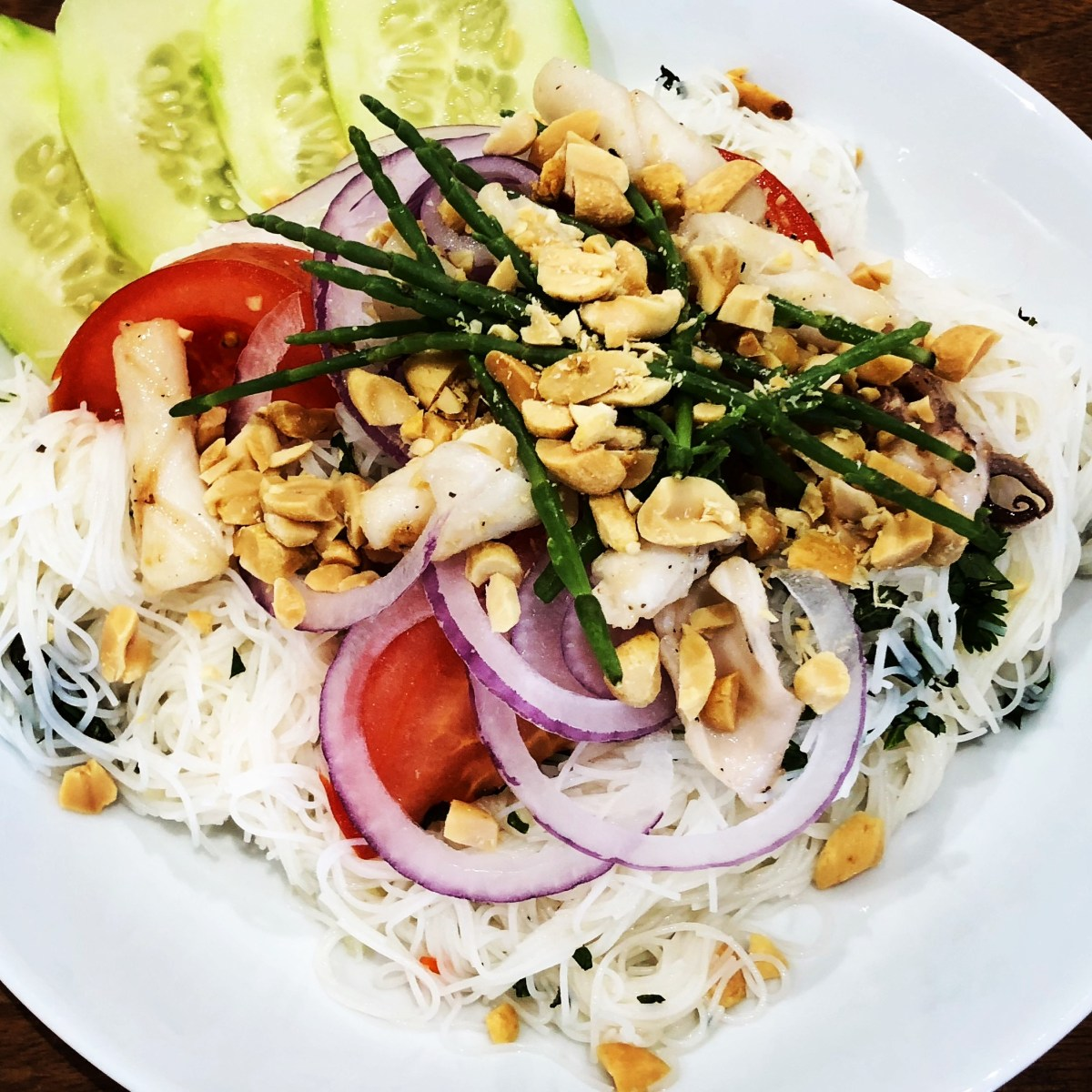 Squid and Rice Noodle Salad