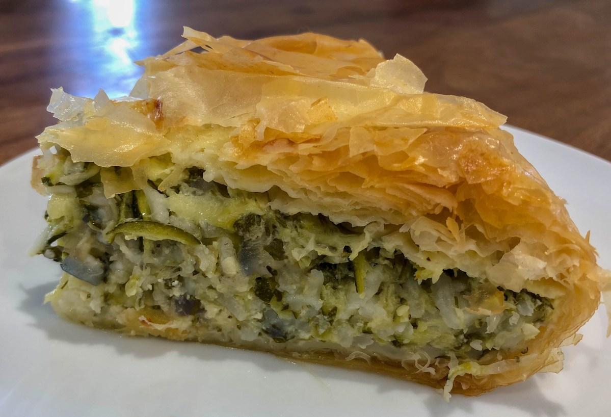 Zucchini and Rice Filo Pie