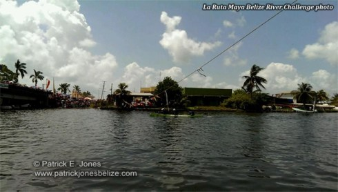 Belize Bank Bulldogs at the finish line (Picture courtesy La Ruta Maya Belize River Challenge)