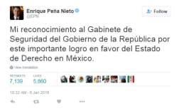 message by Nieto