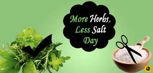 Image result for More herbs, Less Salt Day 2019