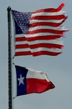 US and Texas flags