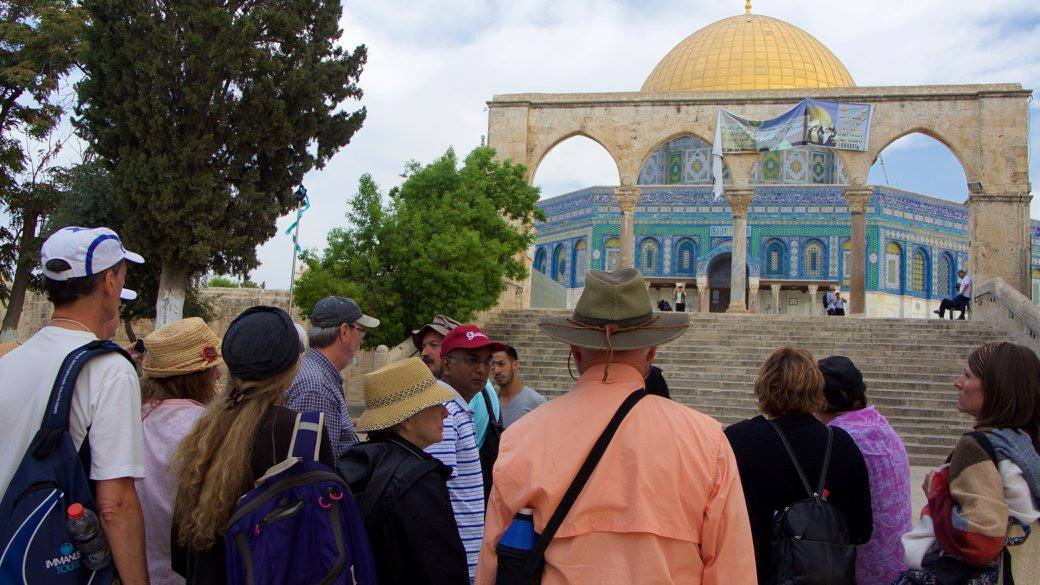 Cry for Zion members visiting the Temple Mount. (Photo: Doron Keidar/ Cry for Zion)