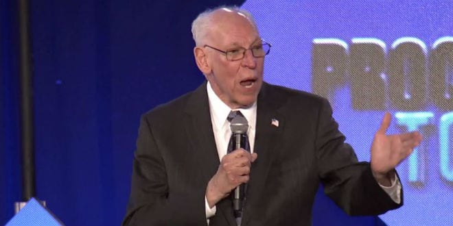 Pastor Rafael Cruz, father of Ted Cruz, speaks at a Proclaiming Justice to the Nations event. (Screenshot)