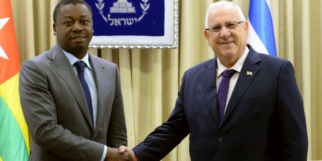 President Reuven Rivlin hosted President of Togo Faure Gnassingbé at his residence in Jerusalem, on August 10, 2016. (Photo: Mark Nayman/GPO)
