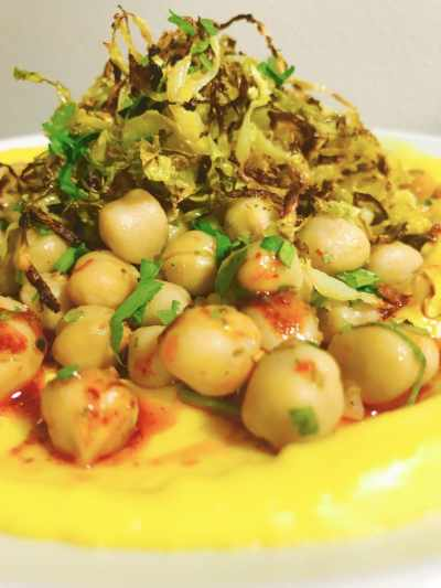 Brussel Sprouts and Chicpea Pithala