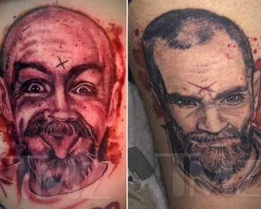 Charles Manson Fanatic Couple Get Manson Portrait Tattoos With His Ashes