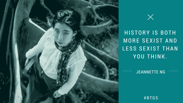 """History is both more sexist and less sexist than you think"" - Jeannette Ng"