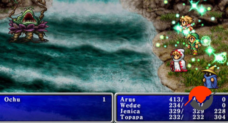 An image from Final Fantasy. It turns out that RPG teams are a great analogy for synergies!