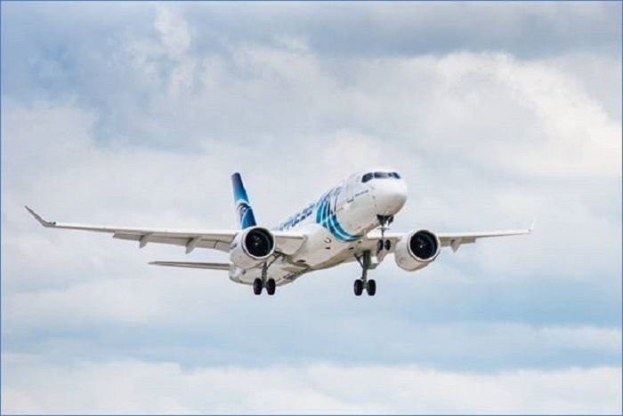 First EgyptAir A220-300 headed for Cairo 1