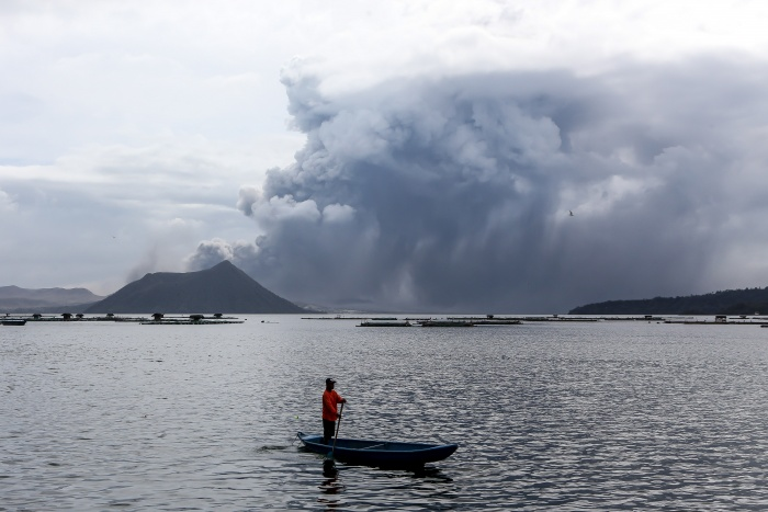 Taal volcano erupts in the Philippines 1
