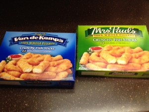 Notice anything about these two brands of fish sticks?  It may be the secret to dominating your industry!