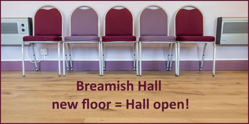 Breamish Hall new floor