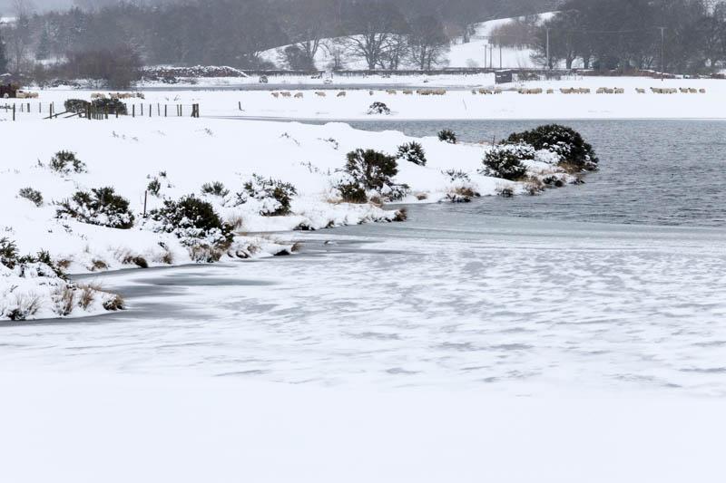 frozen Hedgeley Lake