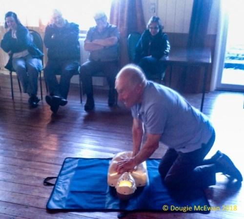 Defibrillator Training Success May 2018 demonstration 1