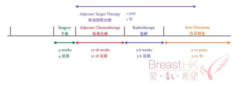 乳癌化療時間