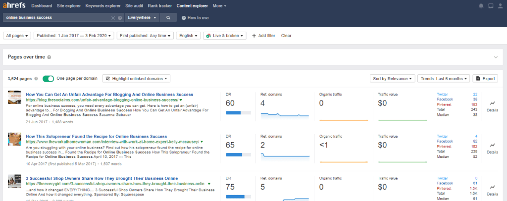 Use Ahrefs tools to find guest posting opportunities
