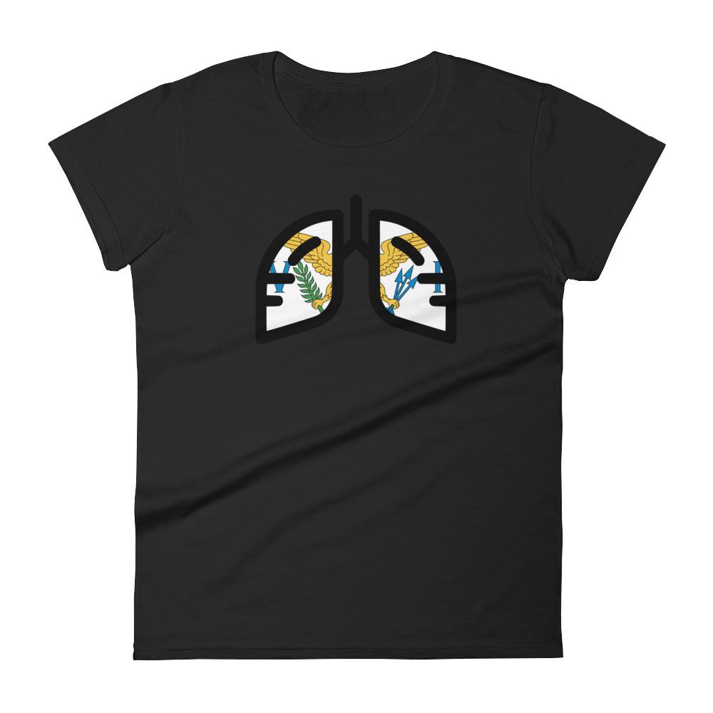 Ladies Breathing U.S. Virgin Islands T-Shirt