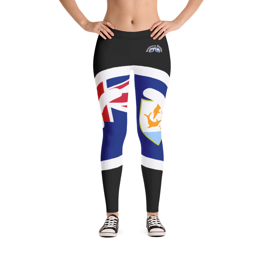 Breathing Anguilla Black Leggings
